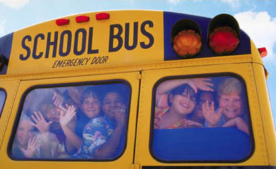 kids crammed into yellow school bus